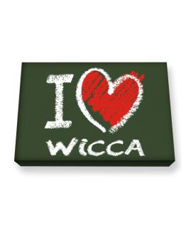 I love Wicca chalk style Canvas square
