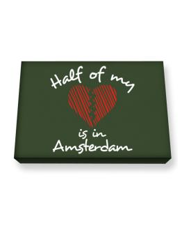 Half of my heart is in Amsterdam Canvas square