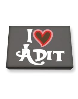 I Love Adit Canvas square