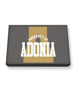 Property Of Adonia Canvas square