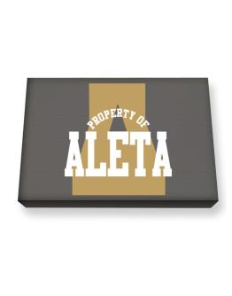 Property Of Aleta Canvas square