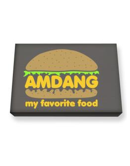 Amdang My Favorite Food Canvas square