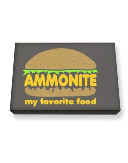 Ammonite My Favorite Food Canvas square
