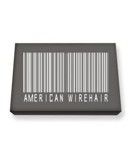 American Wirehair Barcode Canvas square