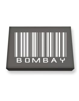 Bombay Barcode Canvas square