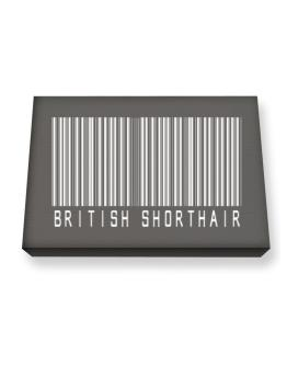 British Shorthair Barcode Canvas square