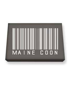 Maine Coon Barcode Canvas square