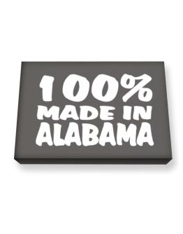 100% Made In Alabama Canvas square