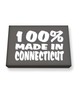 100% Made In Connecticut Canvas square
