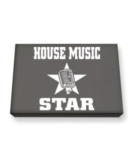 House Music Star - Microphone Canvas square