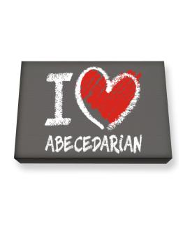 I love Abecedarian chalk style Canvas square