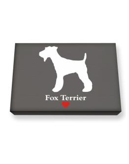 Fox Terrier love Canvas square