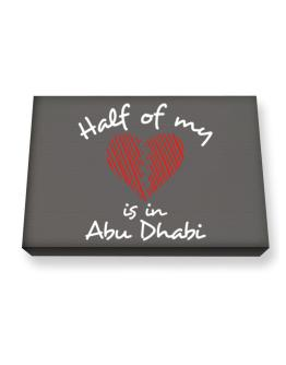 Half of my heart is in Abu Dhabi Canvas square