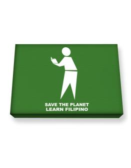 Save The Planet Learn Filipino Canvas square