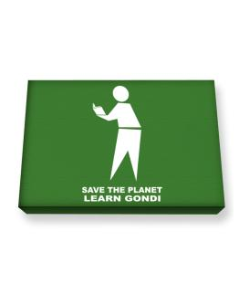 Save The Planet Learn Gondi Canvas square