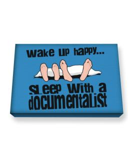 wake up happy .. sleep with a Documentalist Canvas square
