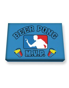 Beer Pong MVP Canvas square