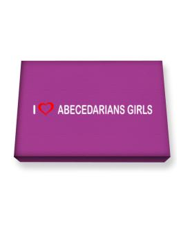 I love Abecedarians Girls Canvas square