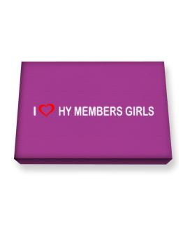 I love Hy Members Girls Canvas square
