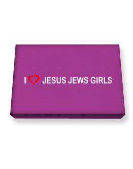 I love Jesus Jews Girls Canvas square