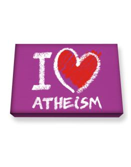 I love Atheism chalk style Canvas square