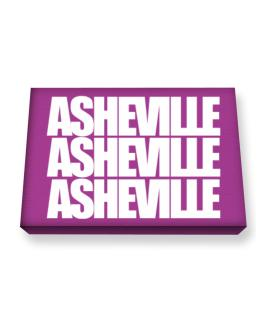 Asheville three words Canvas square