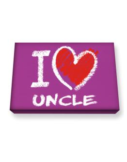 I love Auncle chalk style Canvas square