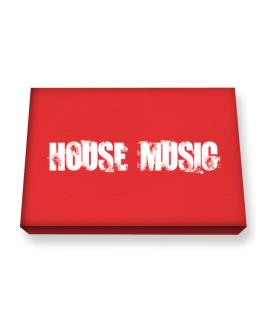 House Music - Simple Canvas square