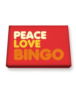 Peace Love Bingo Canvas square