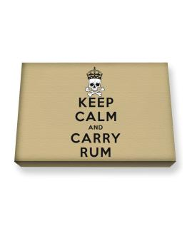 Carry Rum Canvas square