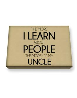 The more I learn about people the more I love my Auncle Canvas square