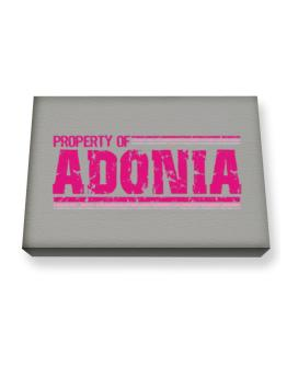 Property Of Adonia - Vintage Canvas square