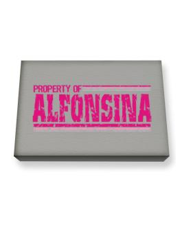 Property Of Alfonsina - Vintage Canvas square