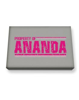 Property Of Ananda - Vintage Canvas square