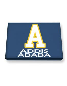 """ Addis Ababa - Initial "" Canvas square"