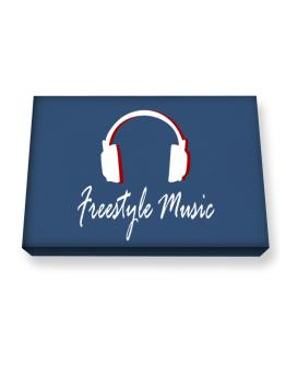 Freestyle Music - Headphones Canvas square