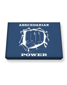 Abecedarian Power Canvas square