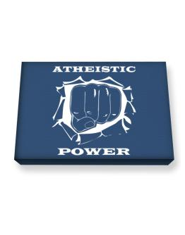 Atheistic Power Canvas square