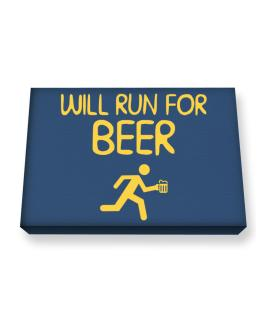 Will Run For Beer Canvas square