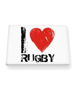 I Love Rugby Canvas square