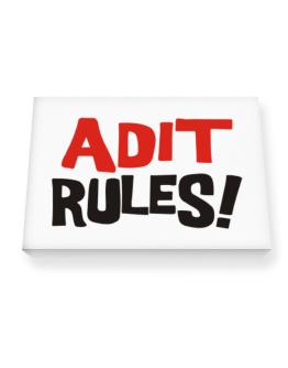 Adit Rules! Canvas square
