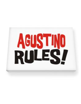 Agustino Rules! Canvas square