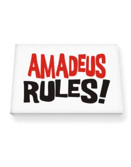 Amadeus Rules! Canvas square