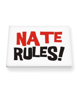 Nate Rules! Canvas square