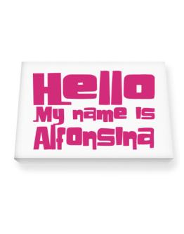 Hello My Name Is Alfonsina Canvas square