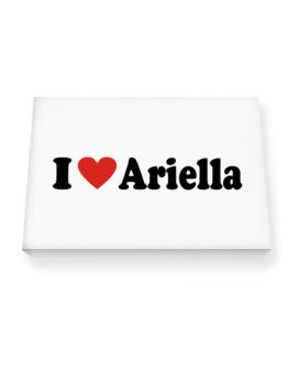 I Love Ariella Canvas square
