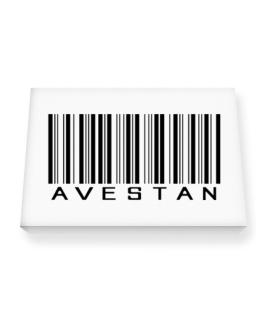 Avestan Barcode Canvas square