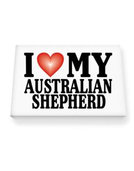 I Love Australian Shepherd Canvas square
