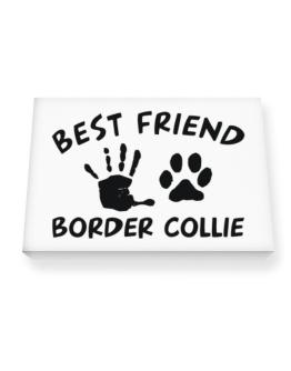 My Best Friend Is My Border Collie Canvas square