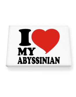 I Love My Abyssinian Canvas square